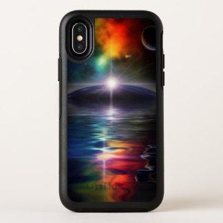 Cas de l'iPhone X d'OtterBox d'imaginaire d'espace