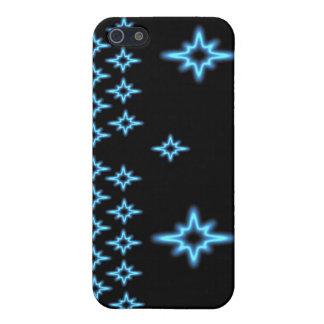 Cas de motif de batik d'étoile bleue étuis iPhone 5
