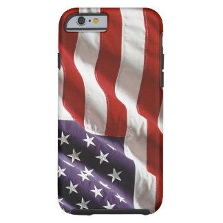 Cas de ondulation vintage de l'iPhone 6 de drapeau Coque iPhone 6 Tough