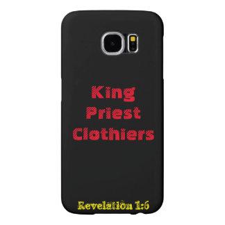 Cas de téléphone de drapiers de roi/prêtre