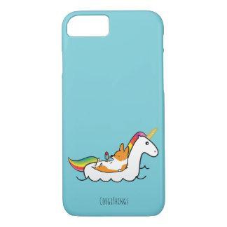Cas de téléphone de Floatie de licorne de corgi Coque iPhone 7