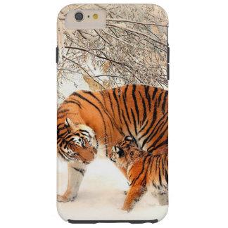 Cas de téléphone de tigre et de tigre de bébé coque tough iPhone 6 plus