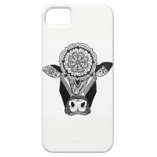 Cas de téléphone de vache à mandala coques iPhone 5 Case-Mate