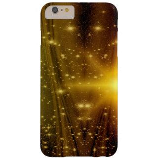 Cas de téléphone d'étoile d'étincelle d'or et en coque barely there iPhone 6 plus