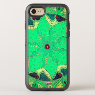 Cas de téléphone d'Ottebox de fleur de Seafoam Coque Otterbox Symmetry Pour iPhone 7