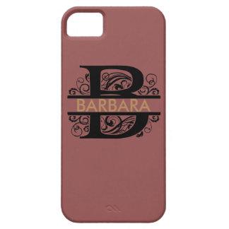 cas décoré d'un monogramme d'iPhone Coque iPhone 5