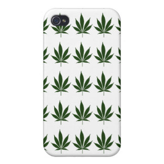 Cas d'IPhone 4 de feuille du pot W26 iPhone 4/4S Case