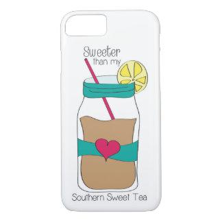 Cas doux de téléphone de thé coque iPhone 7