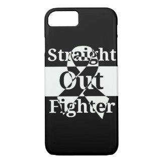 Cas droit de téléphone de combattant coque iPhone 7