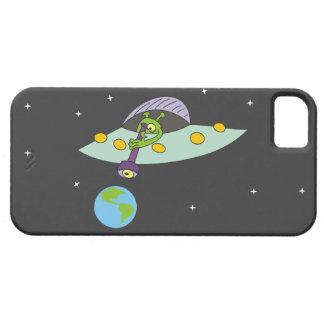 Cas drôle de l'iPhone 5 de bande dessinée d'alien Coque Case-Mate iPhone 5