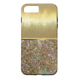 Cas frais de conception d'or de Shell de luxe Coque iPhone 8 Plus/7 Plus