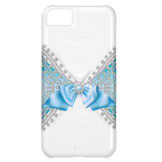 Cas Girly d'arc de parties scintillantes de jewell Coque iPhone 5C
