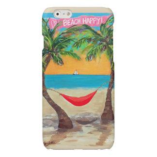 Cas heureux de l'iPhone 6 de plage