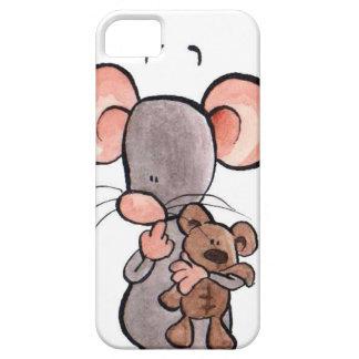 Cas illustré de téléphone de souris et d'ours de n coque Case-Mate iPhone 5