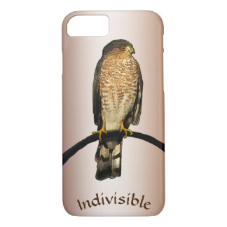 Cas indivisible de l'iPhone 7 de faucon de Brown Coque iPhone 7