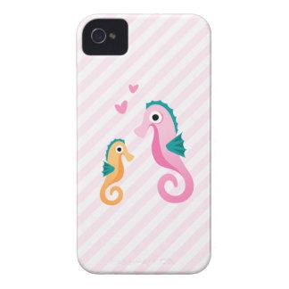 Cas iPhone4 girly mignon avec des seahoses de band Coque iPhone 4