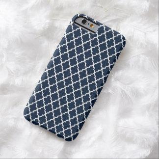 Cas marocain de l'iPhone 6 de mod de motif de bleu Coque iPhone 6 Barely There
