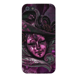 Cas Masque-Rose de l'iPhone 5 de damassé de carnav Coque iPhone 5