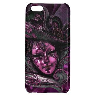 Cas Masque-Rose de l'iPhone 5 de damassé de carnav Coque Pour iPhone 5C