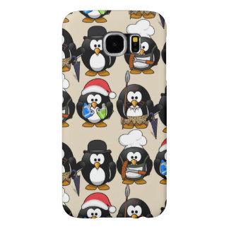 Cas mignon de pingouins de personnaliser pour des