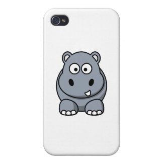 cas mignon d'hippopotame coque iPhone 4/4S