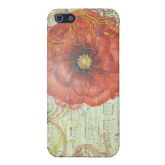 CAS MUSICAL DU PAVOT ROUGE IPHONE 5 COQUES iPhone 5