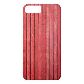 Cas plus de l'iPhone 7 en bois rouges de planches Coque iPhone 7 Plus
