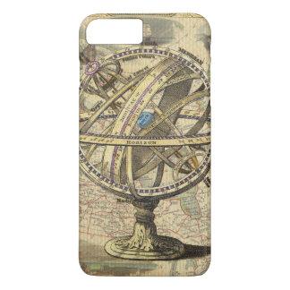 Cas plus de l'iPhone 7 nautiques vintages de carte Coque iPhone 7 Plus