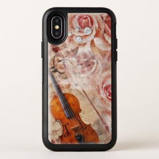 Cas romantique de l'iPhone X d'OtterBox de violon