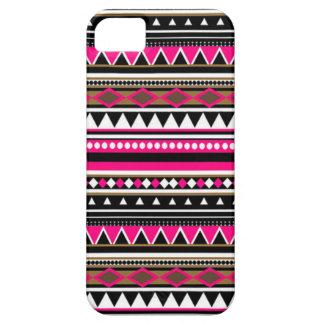 Cas rose de l'iPhone 5 - motif aztèque Coques Case-Mate iPhone 5
