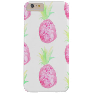 Cas rose de technologie d'aquarelle d'ananas coque iPhone 6 plus barely there