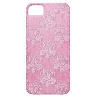 Cas rose Girly de l'iPhone 5 de damassé Coque iPhone 5 Case-Mate