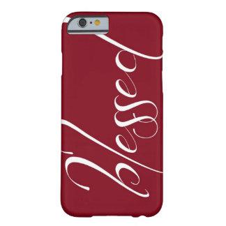 Cas rouge-foncé béni de l'iPhone 6 de déclaration Coque Barely There iPhone 6