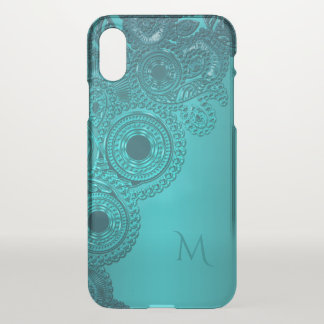 Cas turquoise métallique de l'iPhone X de Coque iPhone X