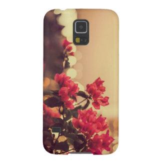 Cas vintage mignon de téléphone de fleurs coque galaxy s5