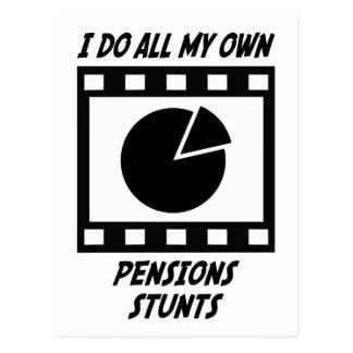 Cascades de pensions carte postale