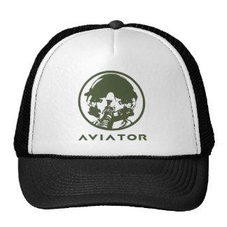Casque de pilote d'avion de chasse d'aviateur casquettes