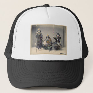 Casquette 3 samouraïs en photo de cru d'armure