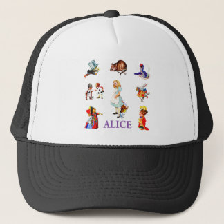 Casquette Alice et amis au pays des merveilles