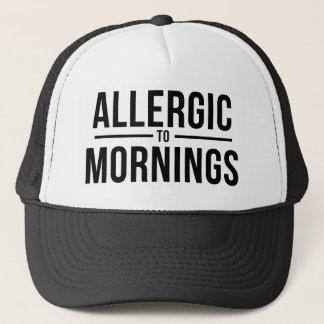Casquette Allergique aux matins