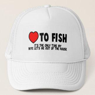 Casquette Amour aux poissons