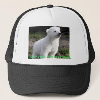 Casquette amour d'ours blancs vous aides