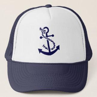Casquette Ancre nautique 3 de bateau de bleu marine