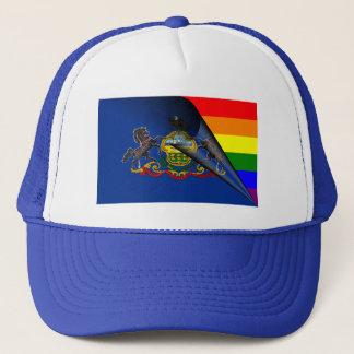 Casquette Arc-en-ciel de gay pride de drapeau de la
