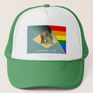 Casquette Arc-en-ciel de gay pride de drapeau du Delaware