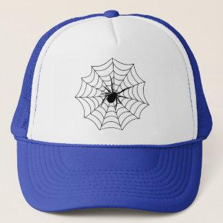 Casquette Art noir d'arachnides d'insectes de Spidernet