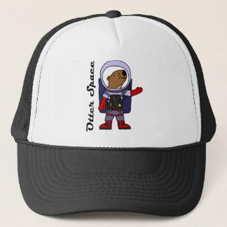 Casquette Astronaute drôle de loutre de mer dans la bande