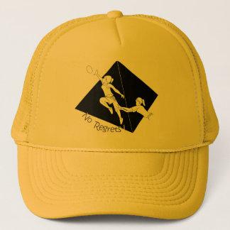 Casquette Aucun noir de regrets sur le jaune