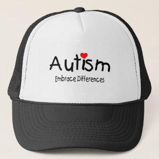 Casquette Autisme, différences d'étreinte