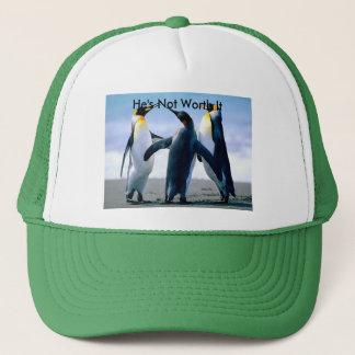 Casquette avec l'image de combat de pingouin